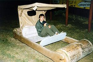 Ekologické vozidlo Freda Flinstonea