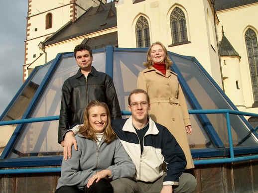 Andersen ešte bez Andrejky:zhora - Robin, Adrika, Tonka, Michal